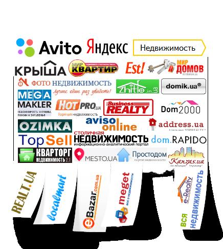 Список доступных порталов недвижимости для публикации объявлений